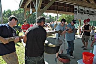 Hoisting the Bean Pot